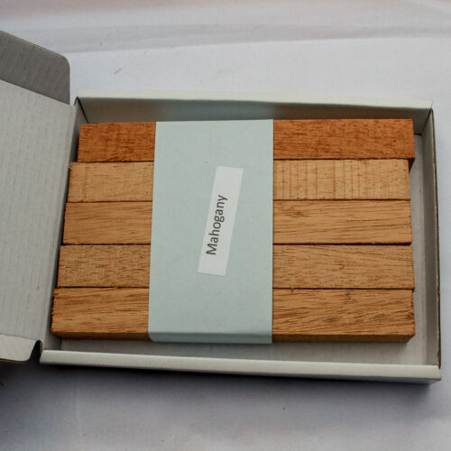 Five American Mahogany wood blanks for pen turning and woodworking projects