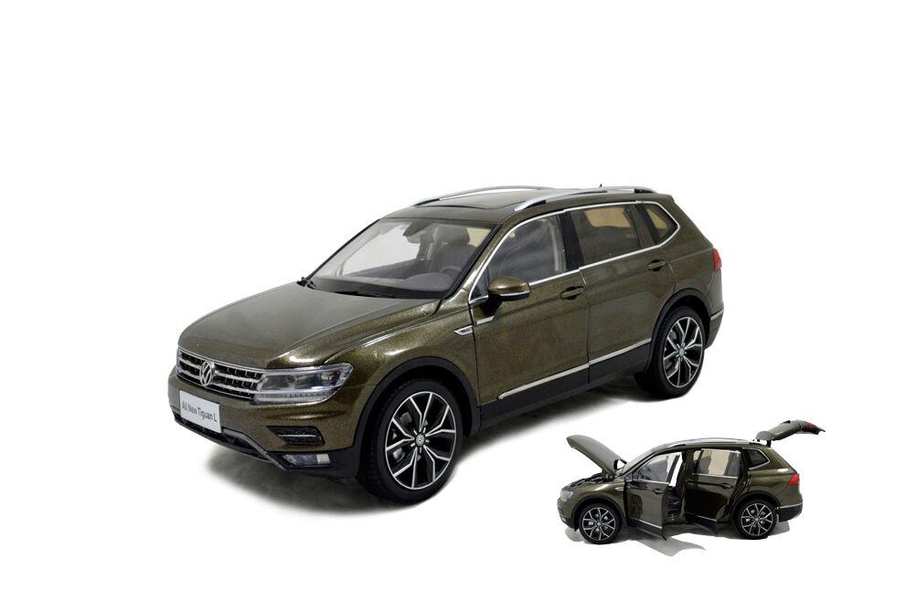 1 18 1 18 Scale VW volkswagen nouveau TIGUAN L 2017 Marron Diecast Voiture Modèle Paudi
