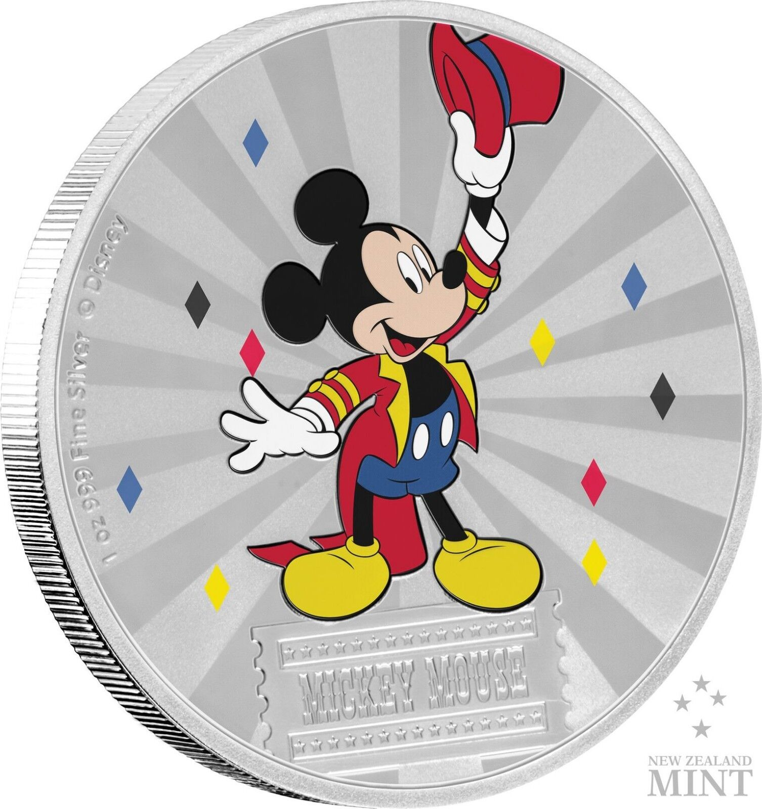 Mickey Mouse & Friends Carnival - Mickey Mouse 1oz Silber Coin - 1st coin