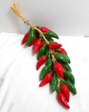 Green Jalapeno Red Hot Chili Peppers Porcelain Ceramic Hanging Decor Mexico Ebay