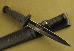 """12"""" Rambo VI Style 5.5mm Boot Dagger Outdoor camping Survival Hunting Knife"""