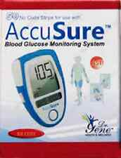 50 Test Strips Dr GENE Accu Sure Blood Sugar Glucose Strip Lowest Price ACCUSURE