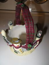 """Make the Season Bright"" Decorative Basket With Snowmen - Christmas"