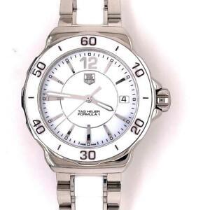 Tag Heuer Ladies Formula 1 Ceramic White Dial Wristwatch 35mm WAH1211 BA086