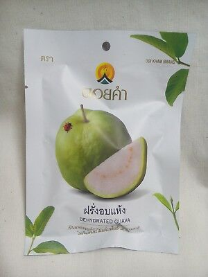 Thailand Guava Doi Kham Fruit Snack Dehydrated Natural  Freeze Sweet Dried 40g.