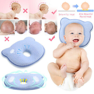 Baby Pillow,Newborn Sleep Support Pillow Infant Positioner Prevent Flat Head Anti Roll Infant Perfect for Travel Pink