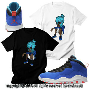 7e3cbeeaaf80e9 CUSTOM T SHIRT MATCHING STYLE OF Air Jordan 10 Huarache Light JD 10 ...