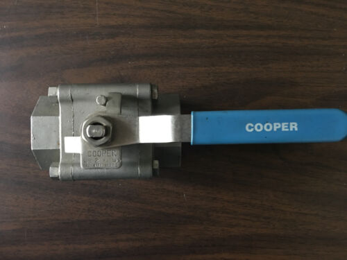 Details about  /COOPER 4150SE THREADED REDUCED PORT BALL VALVE 1500 PSI NOS NEW OLD STOCK