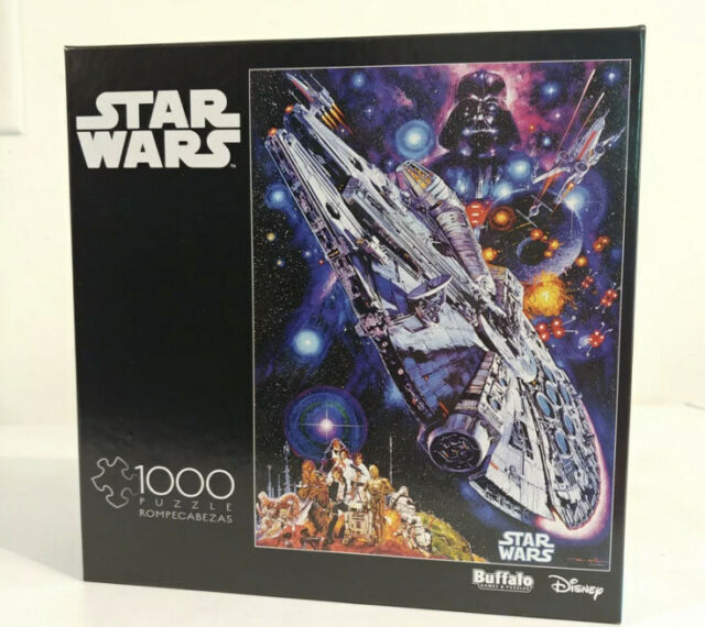 NEW AND SEALED Star Wars Millennium Falcon 1000 Piece Puzzle Buffalo Games