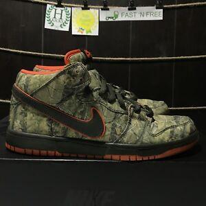 promo code b4090 1b468 Image is loading Nike-Dunk-Mid-Premium-SB-Realtree-Camo-Dark-