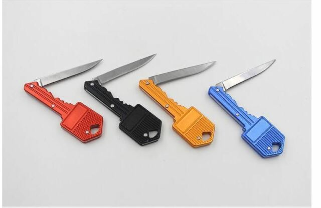 Small Mini Keychain Keyring Spy Folding Pocket Knife Emergency Survival Utility