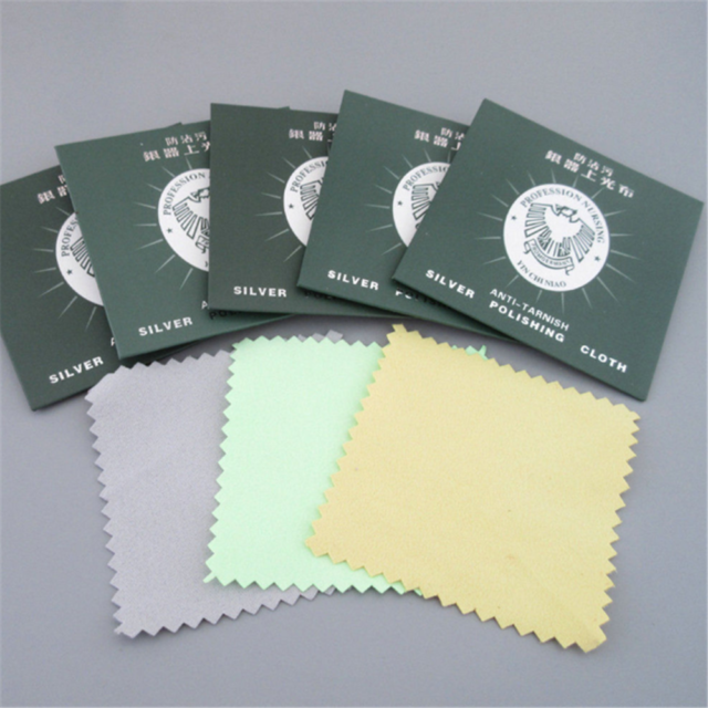 10PCS Jewelry Cleaning Cloth Silver Polishing Cloth Cleaner Anti-Tarnish ToolFEC