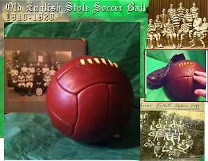 1910-1920  World Cup Antique style laced leather  soccer ball Legendary