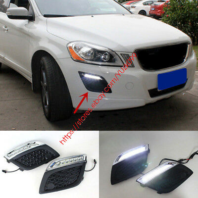NEW LED DRL Driving Daytime Running Day Fog Lamp Light For 2010-2012 VOLVO XC60