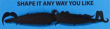 Black Six Way Fake Moustache Shape it any way you like!