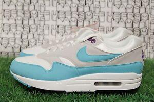 10e98776dd RARE Nike Air Max 1 Anniversary Aqua/Purple/White 908375 105 qs MEN ...
