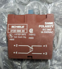 Lot of 5pcs SCHIELE Auxiliary Contact Block (1 NO, 1 NC) 3720 096 20