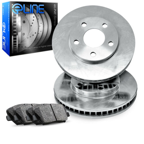 Sequoia Front Blank Brake Rotors+Ceramic Brake Pads For 2000-2007 Toyota Tundra