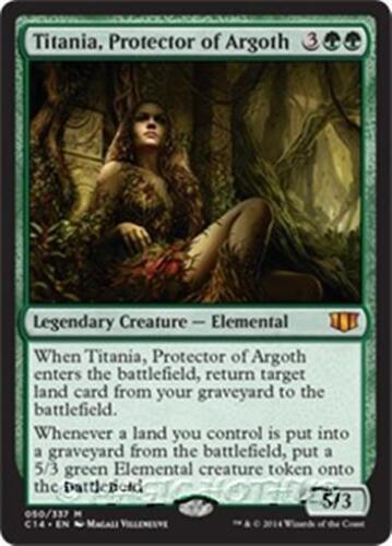 PROTECTOR OF ARGOTH Commander 2014 MTG Green Creature—Elemental Mythic TITANIA