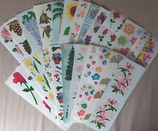 10 Mrs Grossmans Baskets Stickers Flowers Fruit Vegetables Picnic Pie Embossed