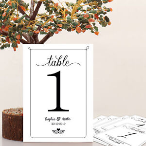 Details About Wedding Place Card Name Card Paper Table Number Home Party Christmas Decorations