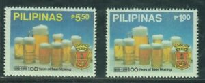 Philippine-Stamps-1990-San-Miguel-Brewery-100-Years-complete-set-MNH