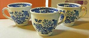 Wood-039-s-Ware-3x-Espresso-Mugs-Porcelain-Ceramic-Tableware-Ornamental-Vintage