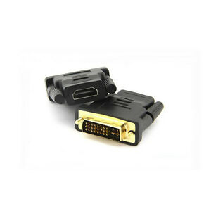 DVI 24+1Pin Male To HDMI Female Connector Adapter Gold Plated 689740060866