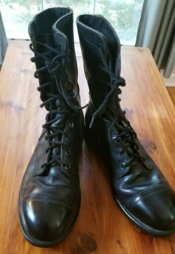 US Navy engineer boots, steel-toe, size 10.5, blac