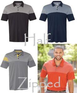 832a891fc Adidas Heather 3-Stripes Block Polo Sport Shirt A213 S-3XL Golf | eBay