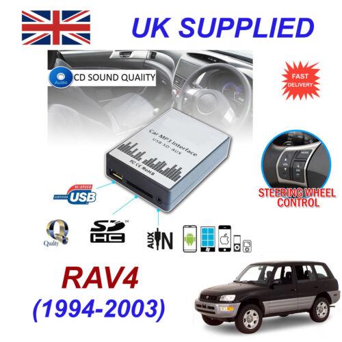 Para Toyota RAV4 MP3 SD USB CD AUX entrada adaptador de Audio CD Changer módulo 5+7 Pin