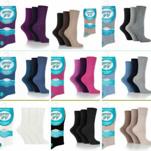 White 3 Ladies Diabetic EXTRA-WIDE Cotton Rich Wider Top Socks UK 4-8