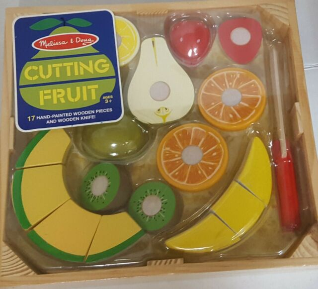 Melissa And Doug Wooden Cutting Fruit Play Set For Sale Online Ebay