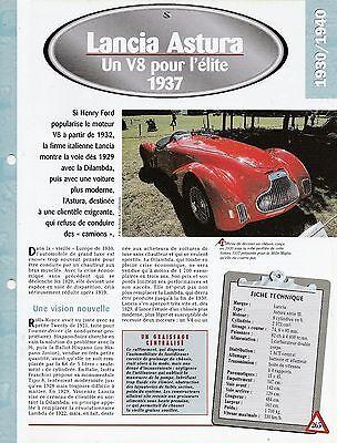 Espressive Voiture Lancia Astura SÉrie Iii - Fiche Technique Auto 1937 Collection Car