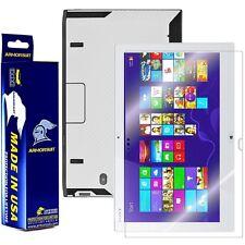 ArmorSuit MilitaryShield Sony VAIO Duo 13 Screen + White Carbon Fiber Skin NEW!!