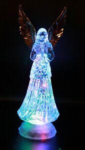 ELECTRIC-LIGHT-UP PRAYING ANGEL FIGURINE ANGELS CHERUBS FIGURINE STATUE