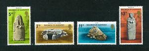 Guernsey-1977-Prehistoric-Monuments-full-set-of-stamps-Mint-Sg-153-156