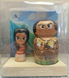Disney-D23-Expo-2017-Exclusive-Moana-Limited-Edition-Wooden-Collectables-w-COA