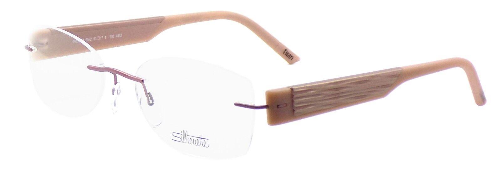 a8c5e603d1 Silhouette 4483 6052 Rimless Titanium Eyeglasses Frames 51x17x130 ...
