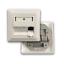 Indexbild 2 - Datendose Netzwerkdose 3-Port Unterputz RJ45 weiss Keystone Modul (leer)