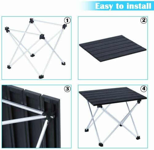 Portable Camping Table Folding Ultralight Camp Table Collapsible for Picnic Cook