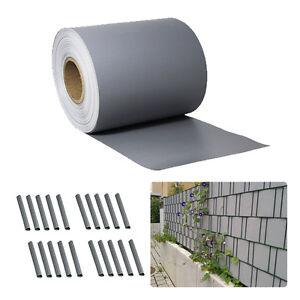 pvc sichtschutz streifen sichtschutzfolie doppelstabmatten zaun folie 35m grau. Black Bedroom Furniture Sets. Home Design Ideas