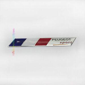 peugeot sport car badge emblem trunk rear sticker france flag for peugeot ebay. Black Bedroom Furniture Sets. Home Design Ideas