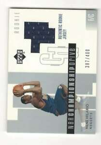 NENE HILARIO RC 2002-03 Upper Deck Championship Drive #125 ROOKIE Jersey ID:1014