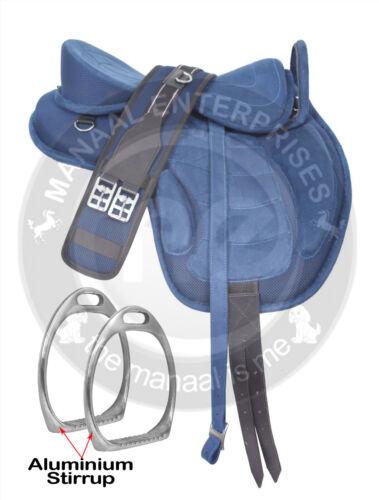 Youth Child Pony Miniature Synthetic Treeless FREEMAX English Horse Saddle 10,13