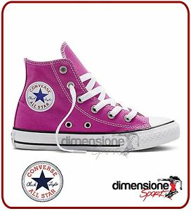 ALL-STAR-alte-BAMBINA-ROSA-TG-30-US-12-5-351873C-SCARPE-CONVERSE-TELA-PINK-shoes