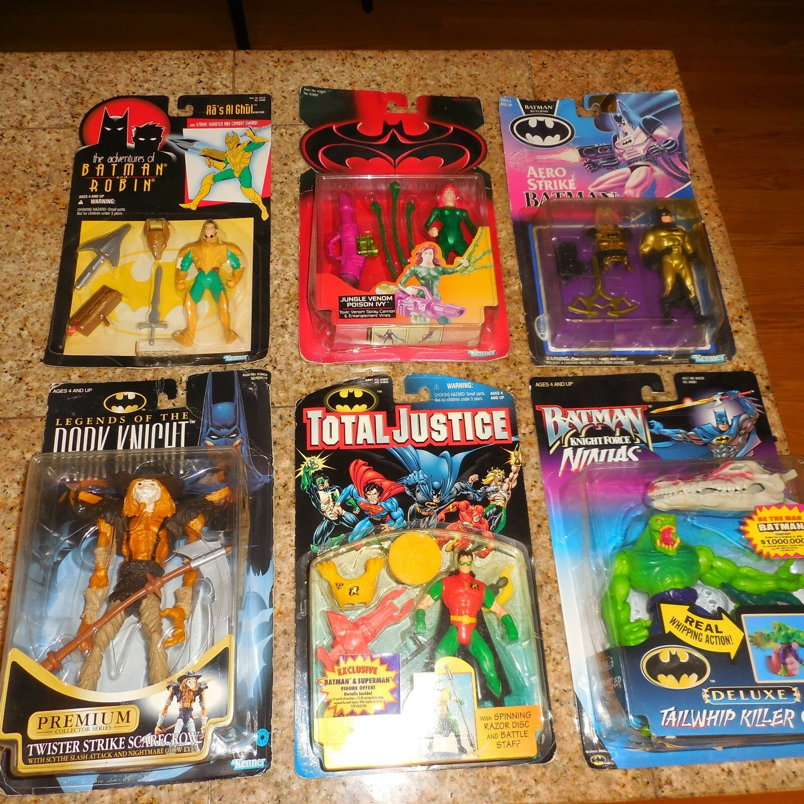6 FIGURE LOT BATMAN &ROBIN AERO STRIKE TWISTER SCARECROW JUNGLE VENOM POISON IVY
