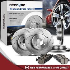 Full Kit Drilled Slotted Brake Rotors Ceramic Pads for BMW 525i 528i 530i E60