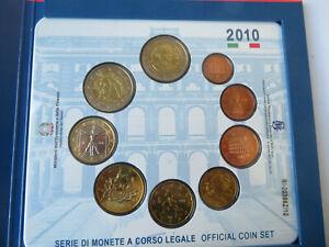 ITALIE - 2010 Coffret BU 8 pièces de 1 ct à 2 € +  2 €  Cavour     CPS
