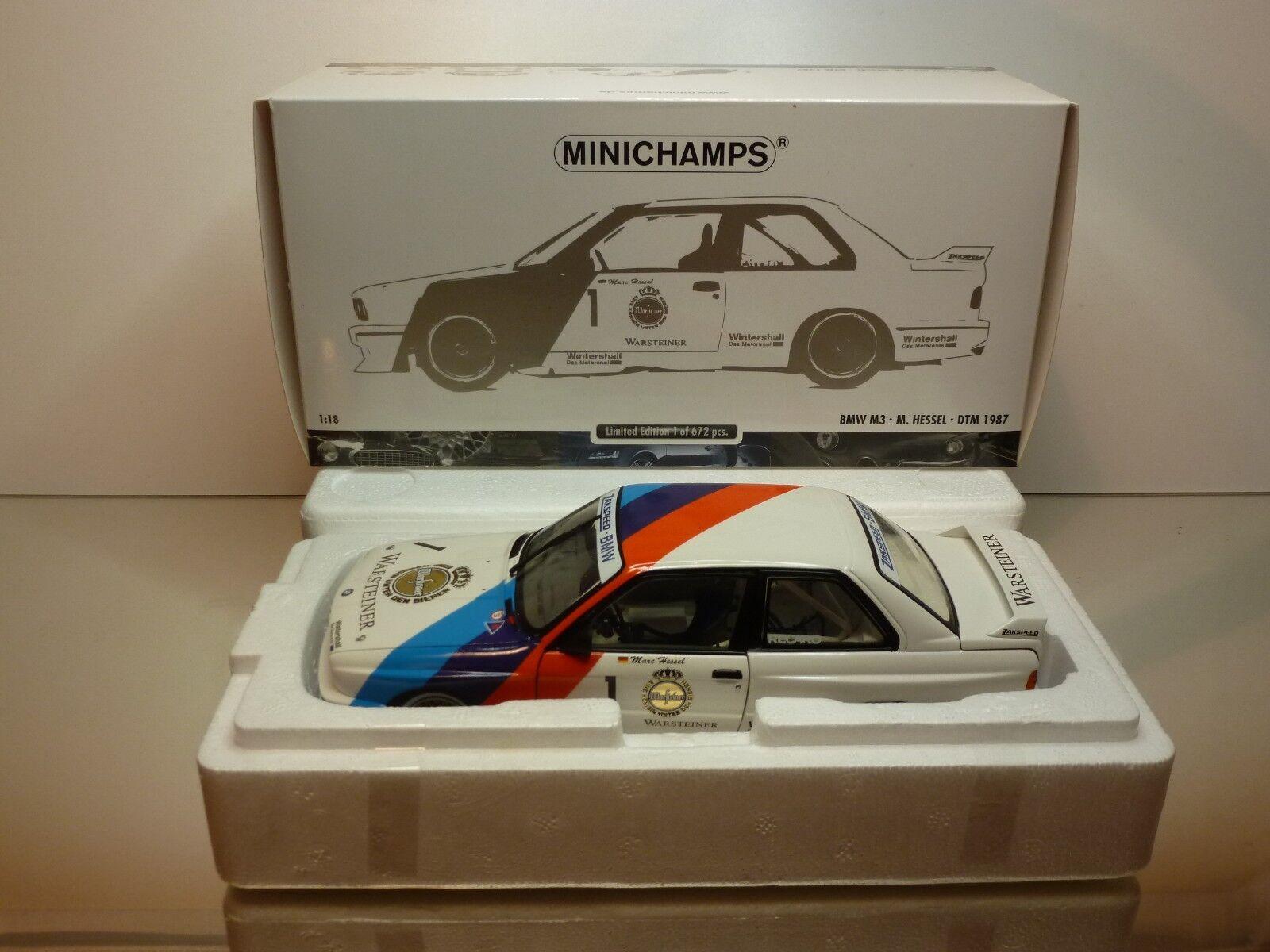 MINICHAMPS BMW M3 E30 DTM 1987 M. HESSEL   1 - blanc 1 18 - EXCELLENT IN BOX  acheter pas cher